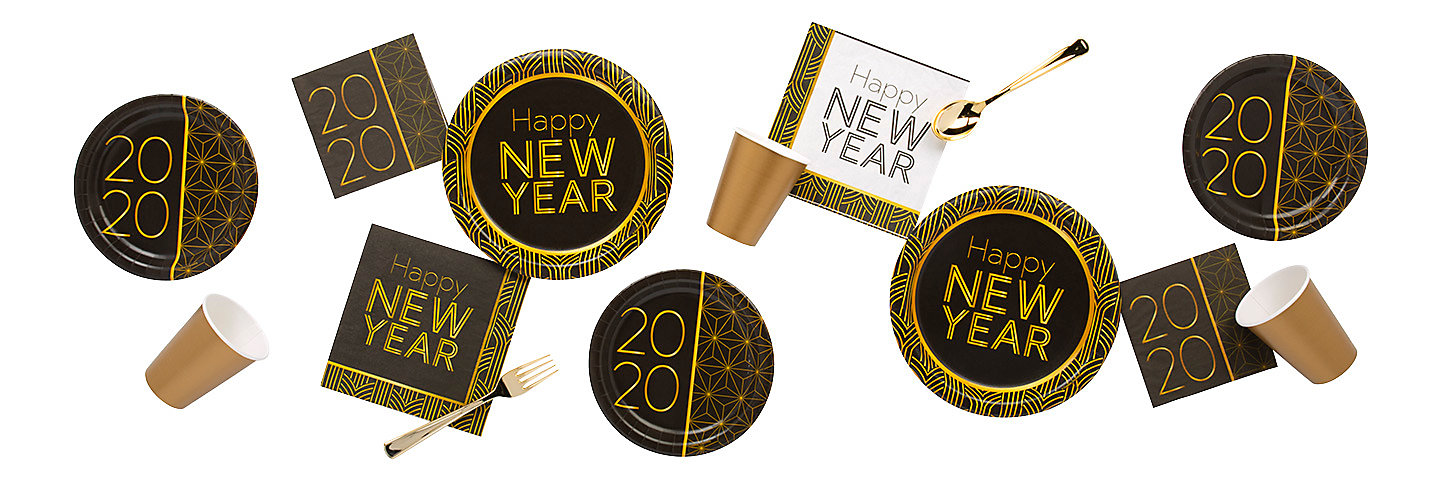2020 Gold New Year's Party Supplies