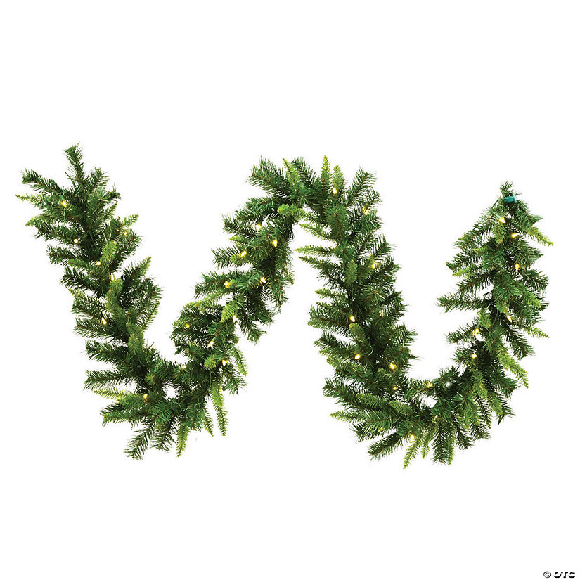 Christmas Pine Garland.Vickerman 9 Imperial Pine Christmas Garland With Warm White Led Lights