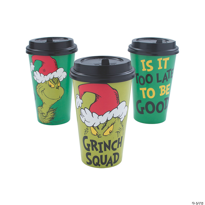 Dr. Seuss™ The Grinch Insulated Coffee Paper Cups with ...