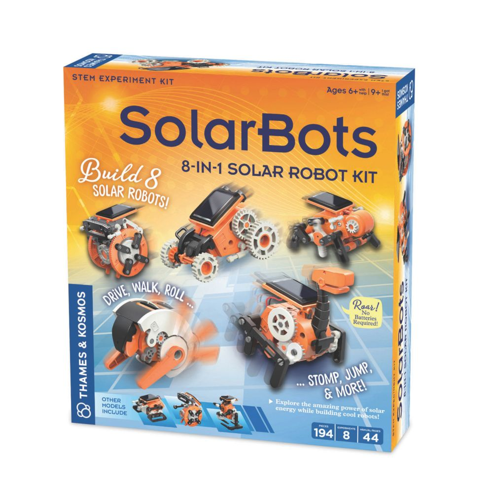 SolarBots: 8-in-1 Solar Robot Kit From MindWare