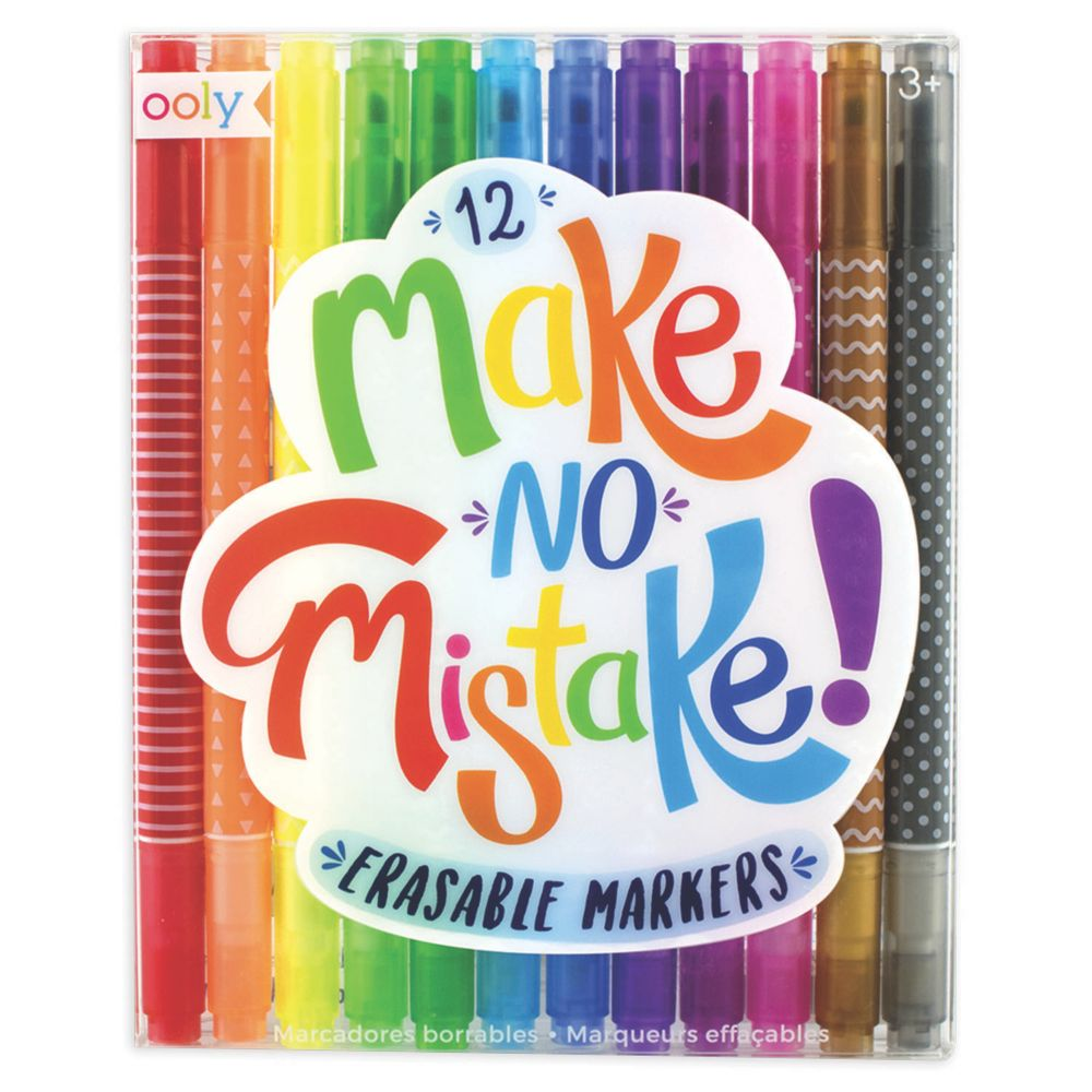 Make No Mistake Erasable Markers From MindWare
