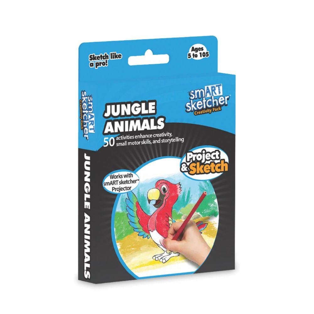 Jungle Animals Junior Art Pack From MindWare