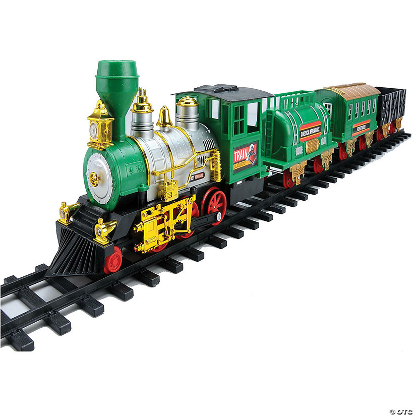 Northlight 20 Piece Battery Operated Lighted And Animated Classic Christmas Train Set With Sound