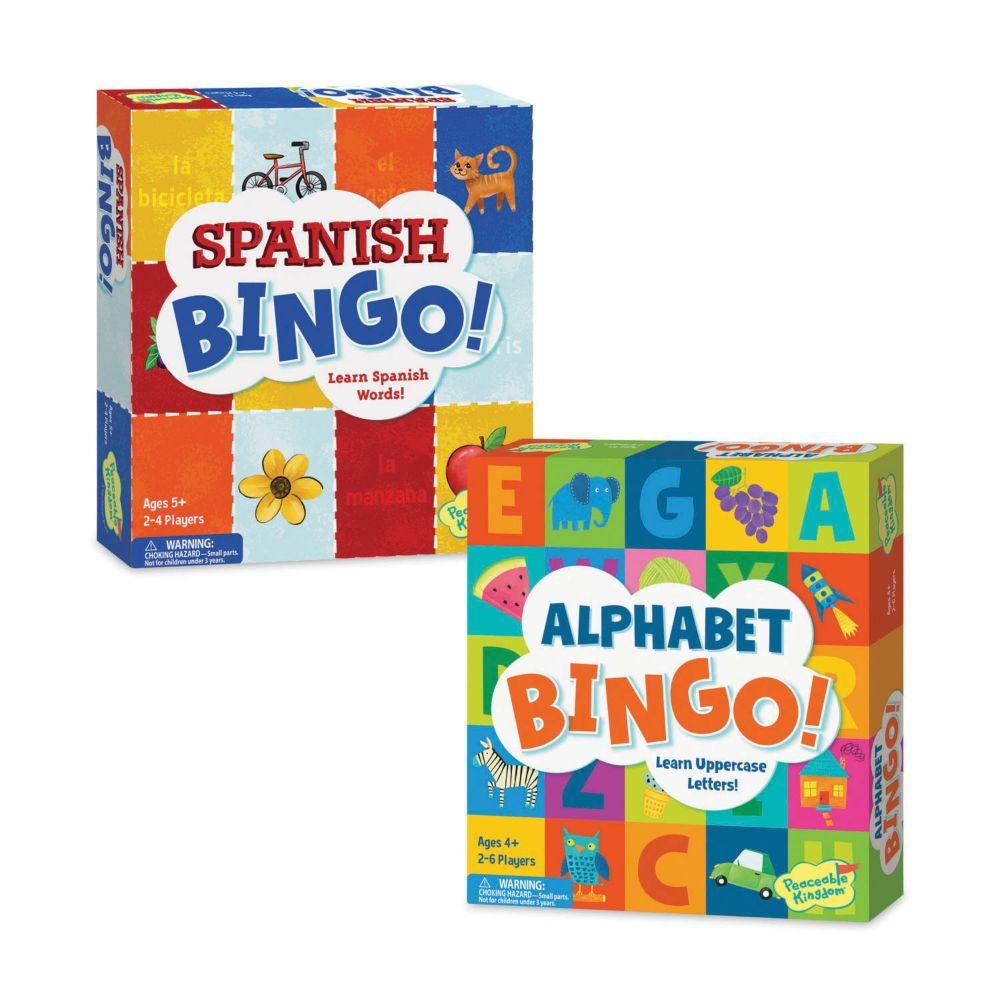 Alphabet and Spanish Bingo: Set of 2 From MindWare