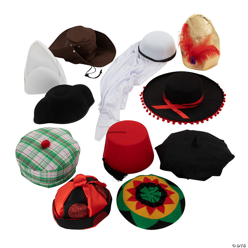 7e16a3bf264098 Hats Around the World Assortment | Oriental Trading