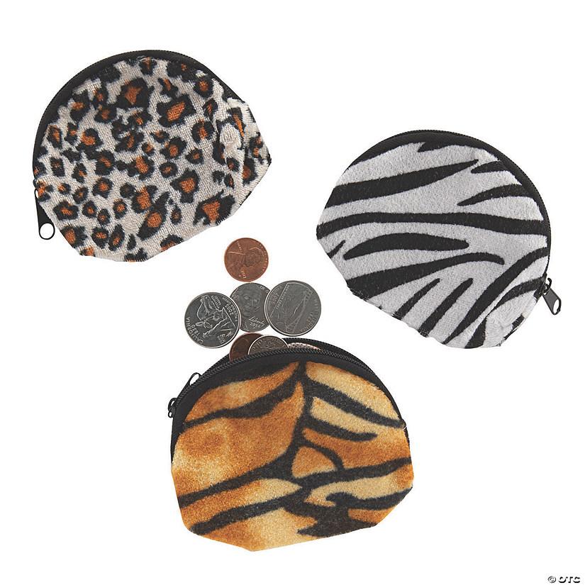78b52983db43 Plush Animal Print Coin Purses | Oriental Trading