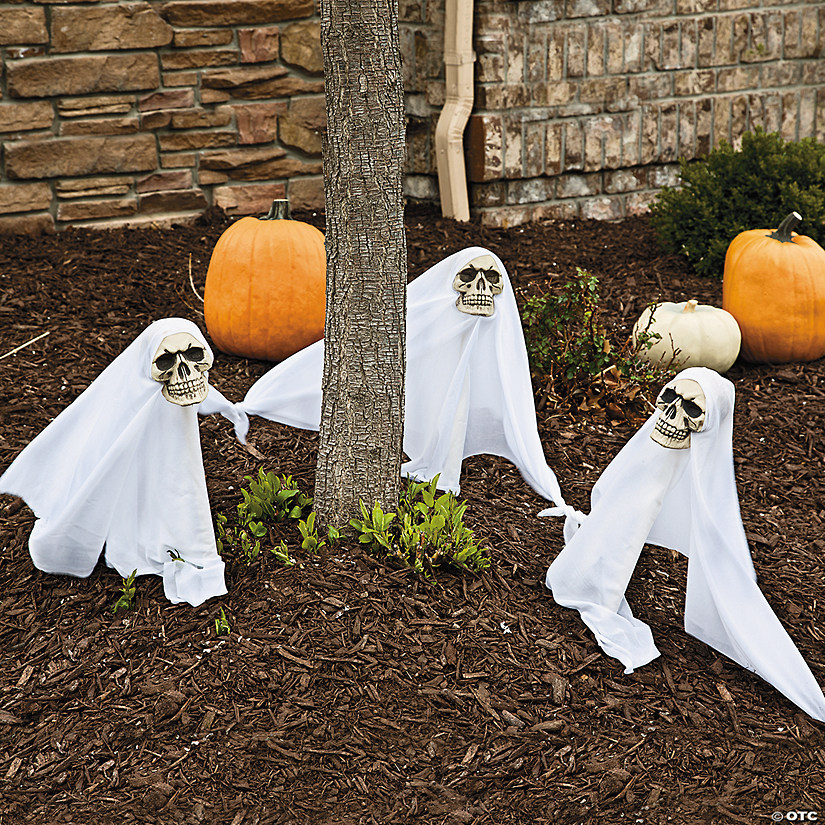 Light Up Ghost Yard Stakes Halloween Decorations