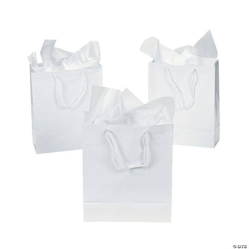 medium white gift bags