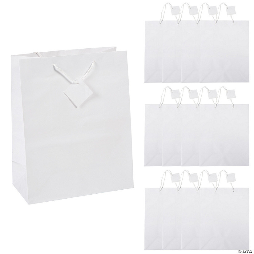 large white gift bags