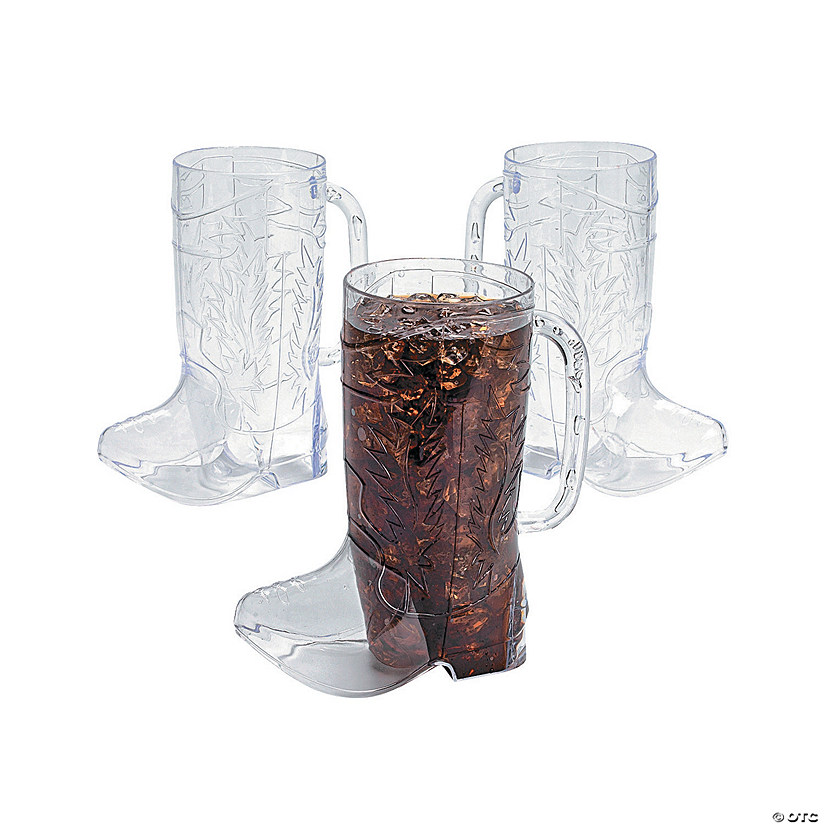 9fced156b49 Cowboy Boot Plastic Mugs