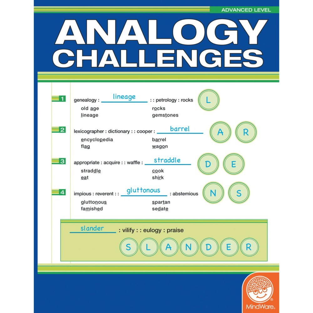 Analogy Challenges: Advanced Level From MindWare
