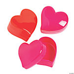 Mini Heart-Shaped Favor Containers