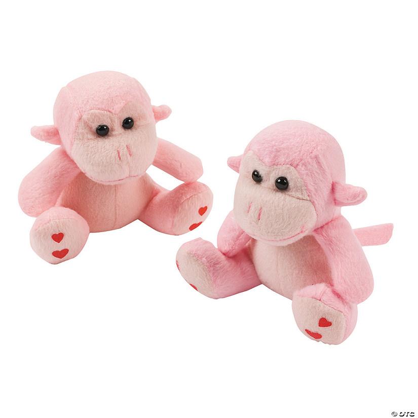Valentine/'s custom basket plush monkey
