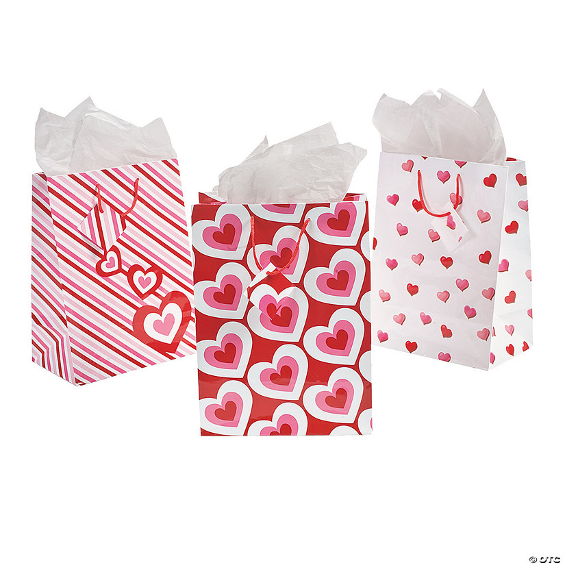 Medium Valentine Gift Bags With Tags