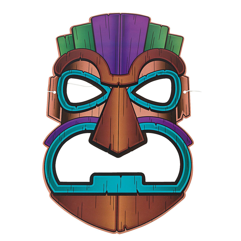 christmas photo booth prop ideas - Tiki Masks Oriental Trading