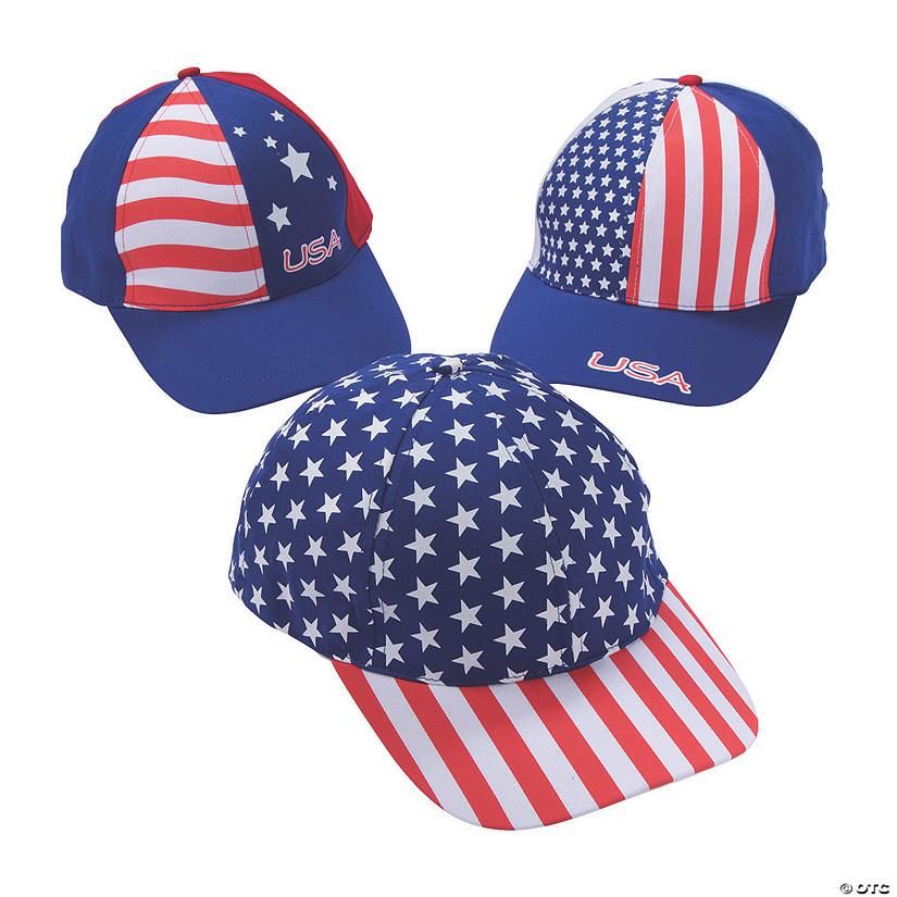 fb5ace267f0e Patriotic Baseball Caps | Oriental Trading