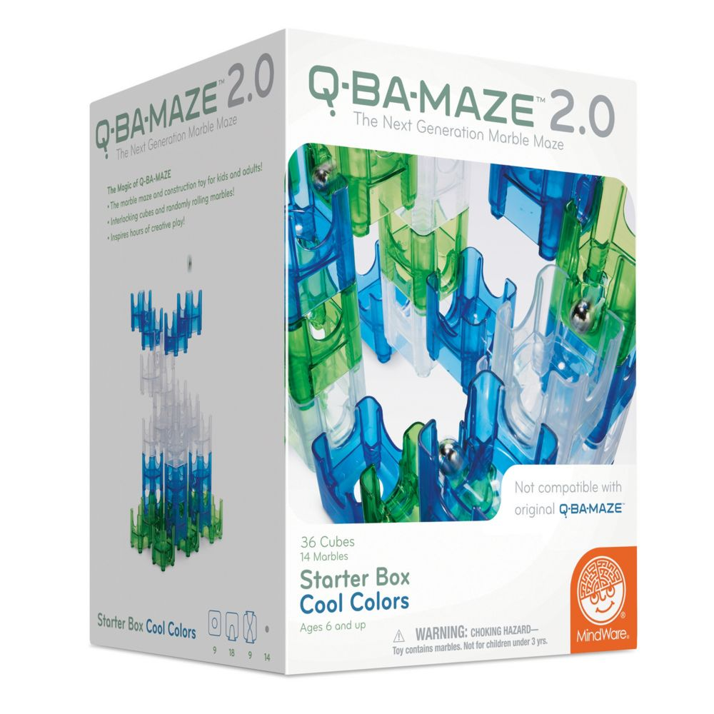 Q-Ba-Maze 2.0: Starter Box - Cool Colors From MindWare