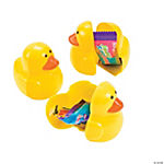 Candy-Filled Duck Plastic Easter Eggs - 12 Pc.