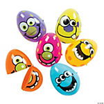 Monster Plastic Easter Eggs - 12 Pc.