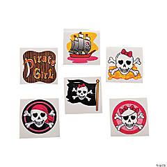Girly Pirate Glitter Tattoos