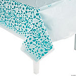 Lace-Printed Wedding Plastic Tablecloth