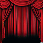 Red Curtain Backdrop