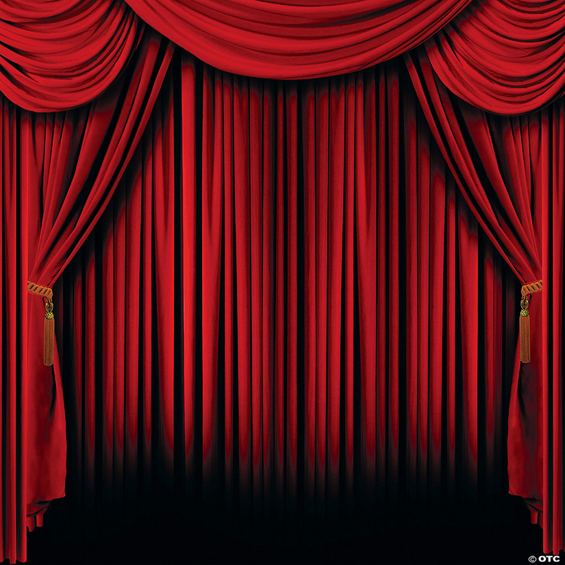 Red Curtain Backdrop | Oriental Trading