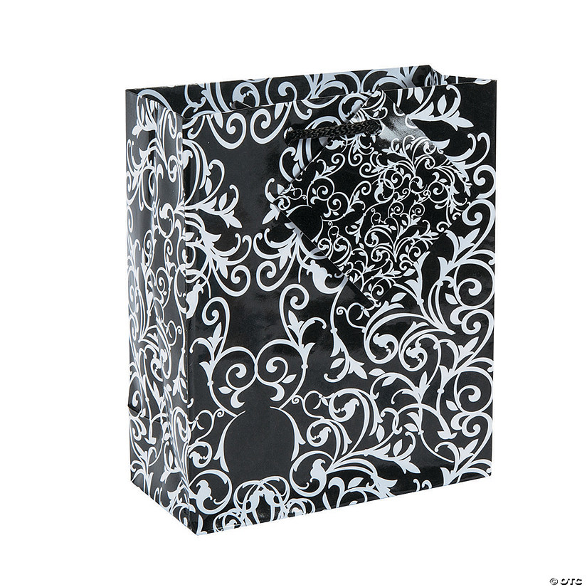 sc 1 st  Oriental Trading & Small Black u0026 White Wedding Gift Bags | Oriental Trading
