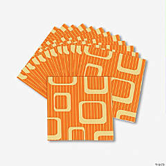 Orange Design Luncheon Napkins