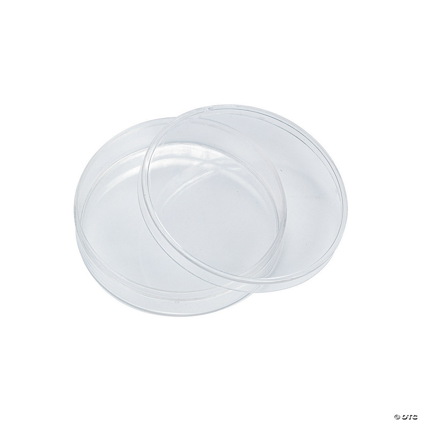 clear round favor containers