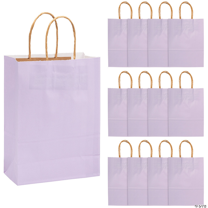 sc 1 st  Oriental Trading & Medium Lilac Kraft Paper Gift Bags | Oriental Trading
