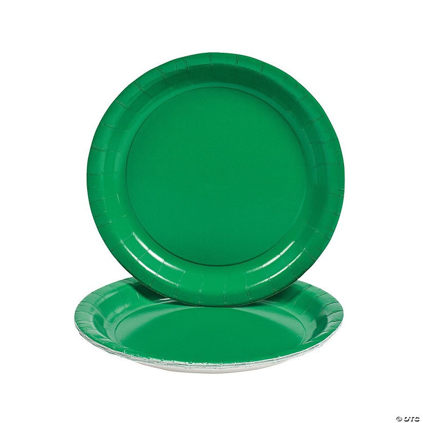 842eb15a284 Green Paper Dinner Plates | Oriental Trading