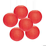 Red Hanging Paper Lanterns
