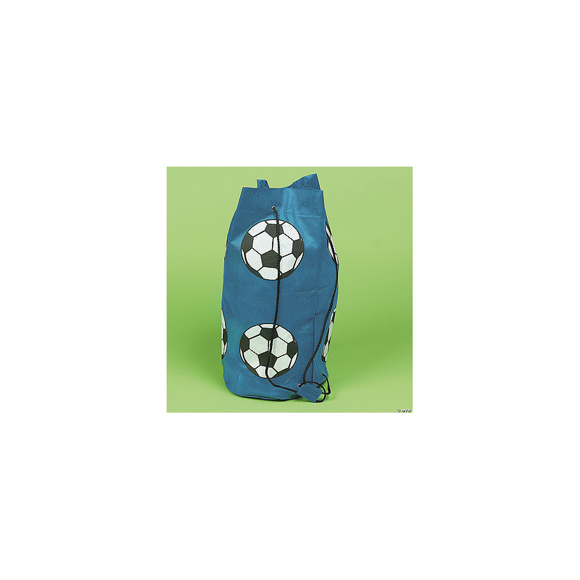 Blue Soccer Ball Drawstring Bags Discontinued