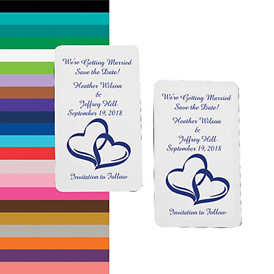 Personalized Two Hearts Save The Date Magnets Oriental Trading