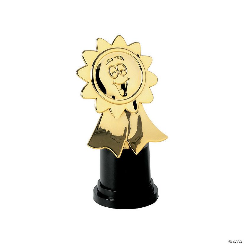 gold ribbon award winner trophies