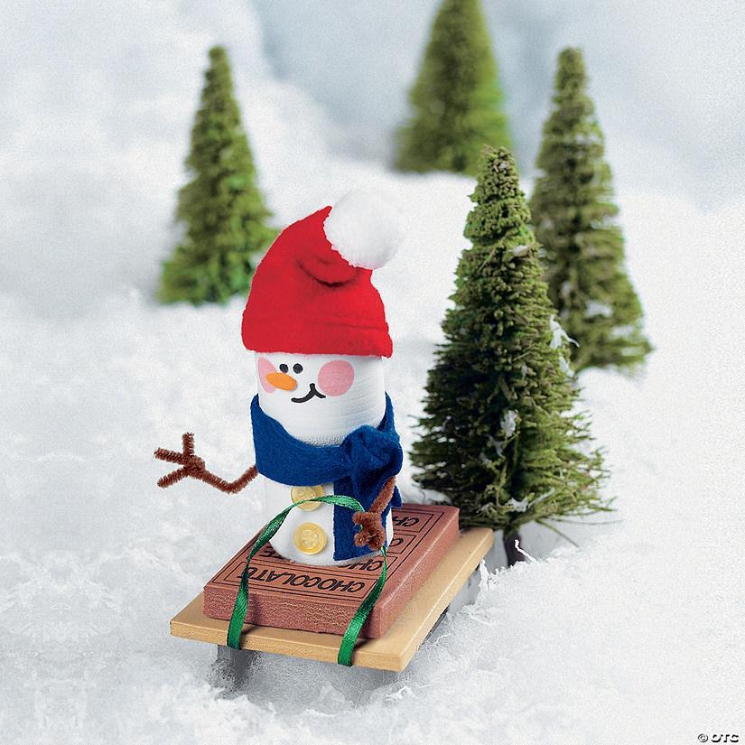 marshmallow snowman christmas ornament craft kit
