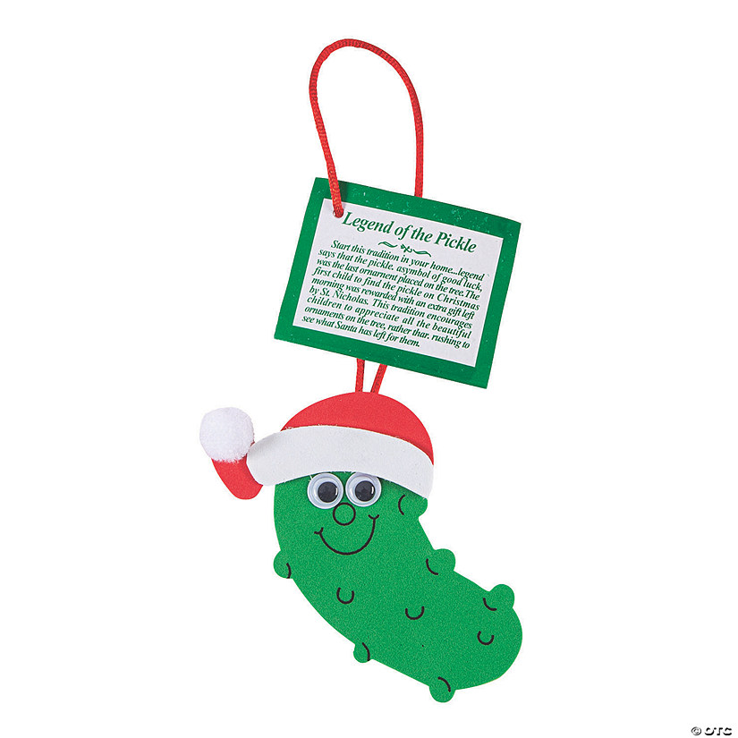 Pickle Christmas Ornament.Legend Of The Pickle Christmas Ornament Craft Kit