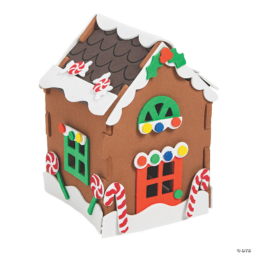 Makes 24 HAPPY DEALS ~ Gingerbread House Craft Kits Christmas Craft Kit for Kids