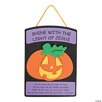 christian halloween craft ideas christian pumpkin craft kit trading 3553