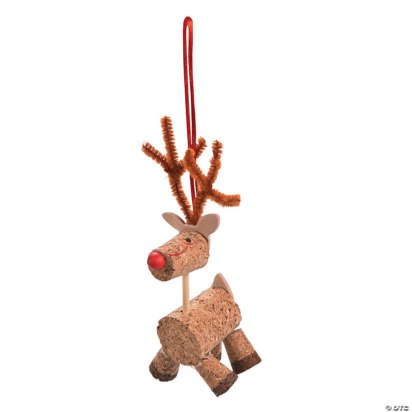 - Cork Reindeer Christmas Ornament Craft Kit