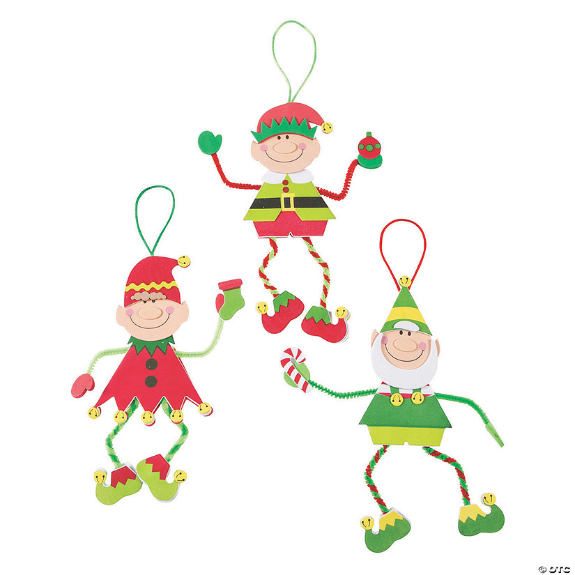 make an elf christmas craft kit - Elf Christmas Decorations