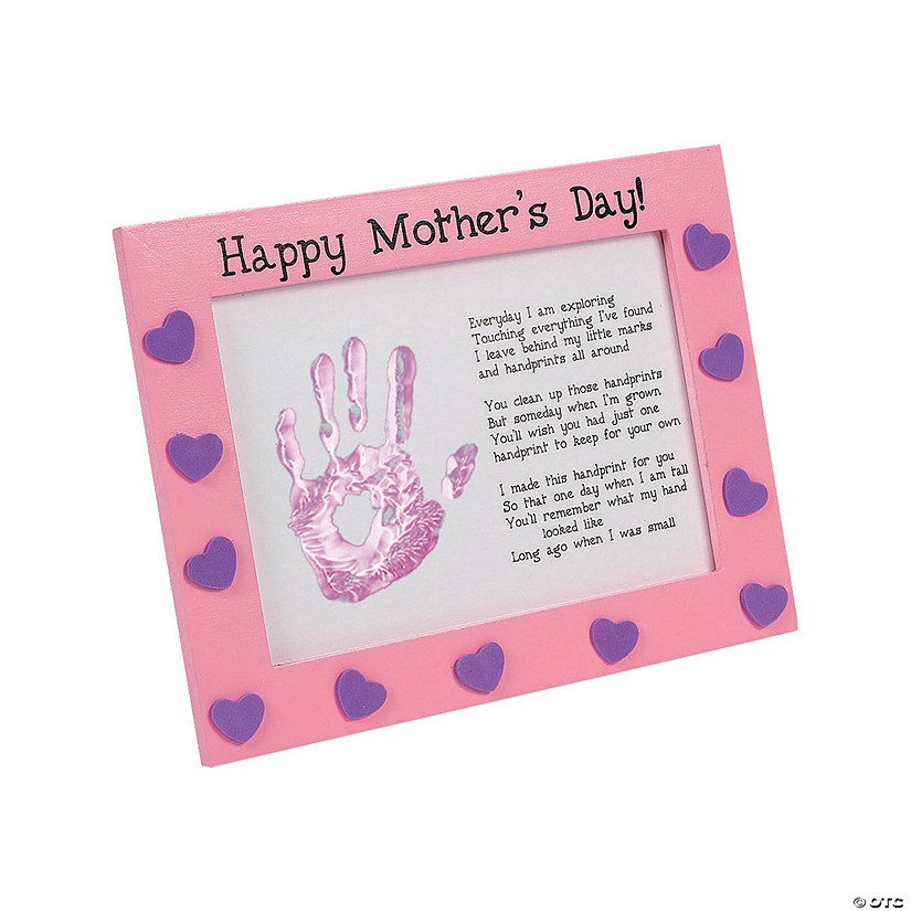 Mother S Day Handprint Frame Craft Kit Oriental Trading