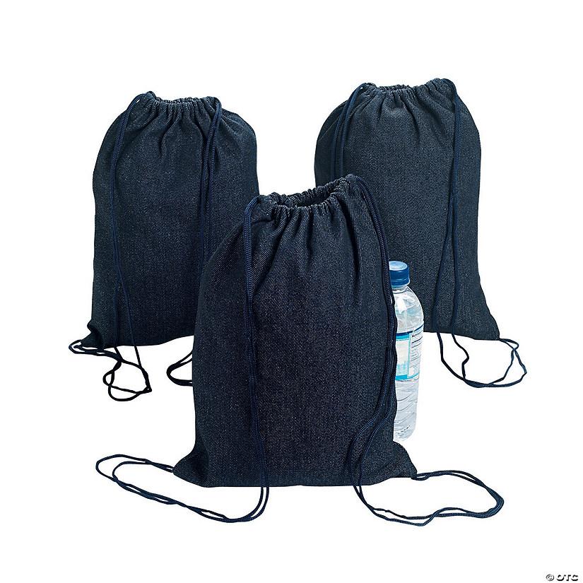 Medium Denim Drawstring Bags Discontinued