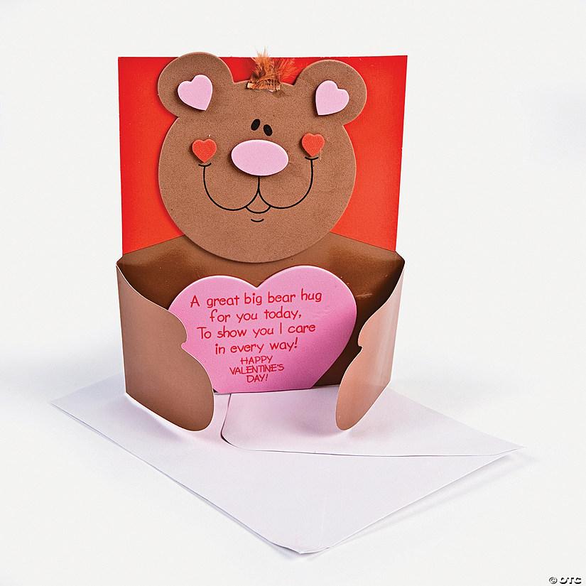 Bear Hug Valentine Card Craft Kit - Discontinued