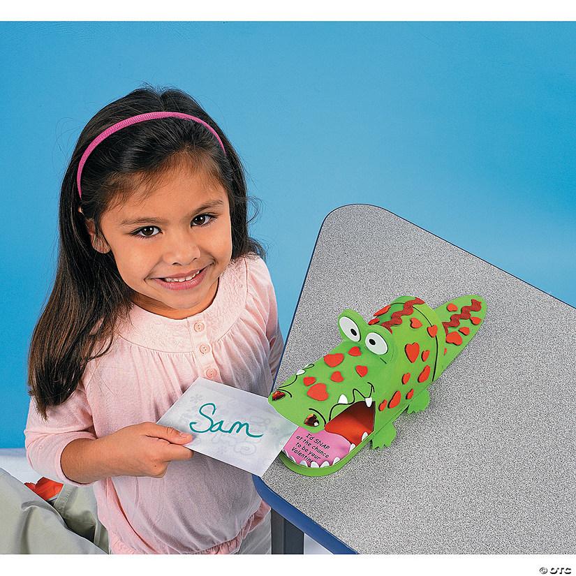 Alligator Valentine Card Box Craft Kit - Discontinued