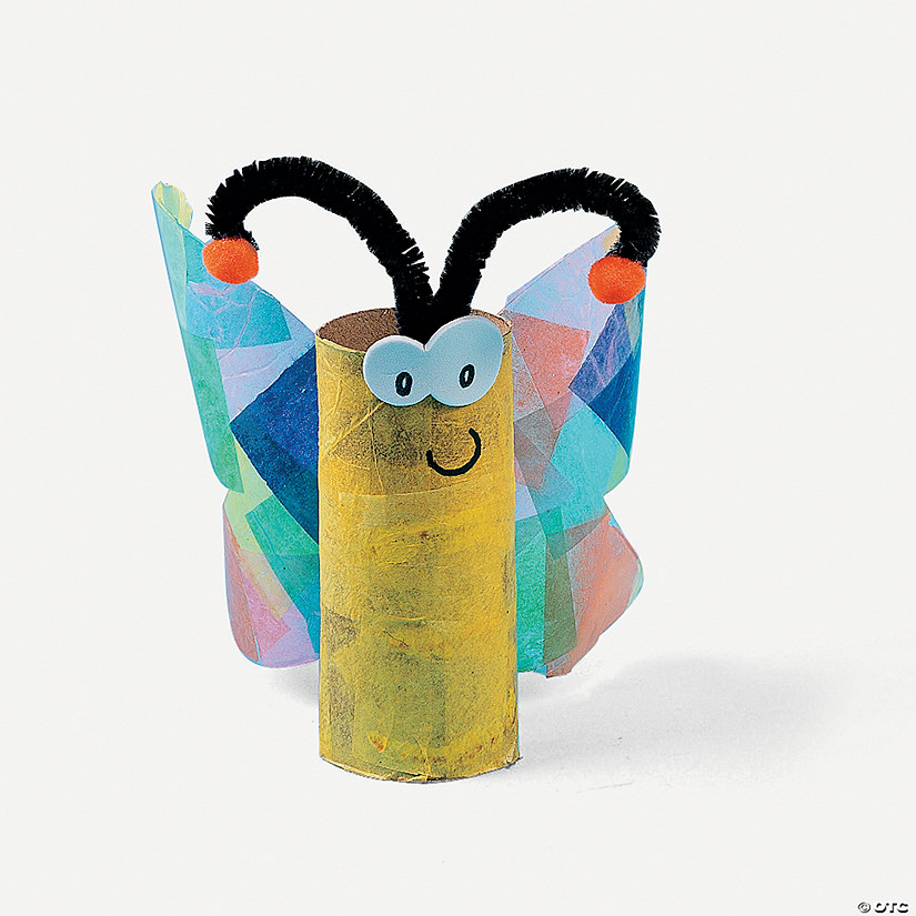 Butterfly Litter Critter Toilet Paper Roll Craft Kit