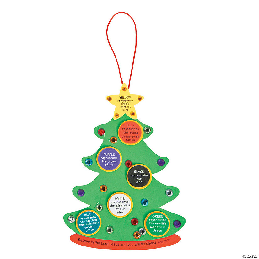 Oriental Trading Christmas.Colors Of Faith Christmas Tree Craft Kit