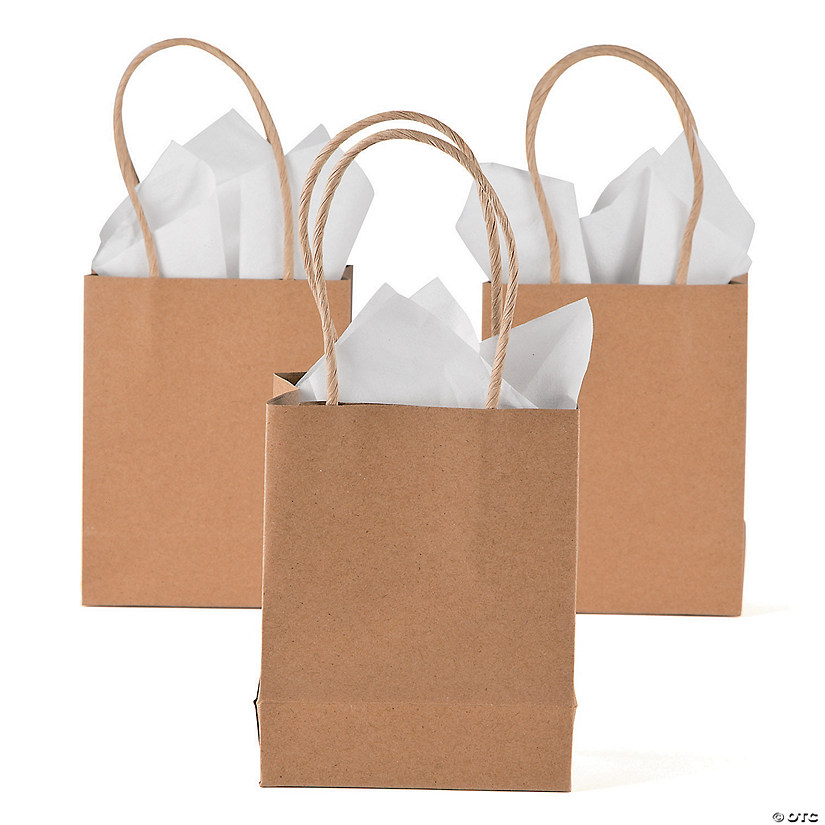 Small Brown Kraft Paper Gift Bags
