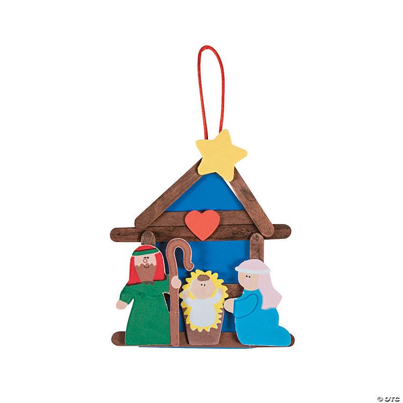 - Nativity Craft Stick Religious Christmas Ornament Craft Kit